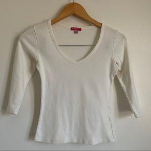 AXARA PARIS Cotton Off-White 3/4 Sleeve Long Shirt
